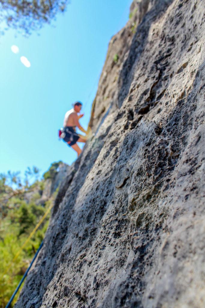 Climbing after Sete