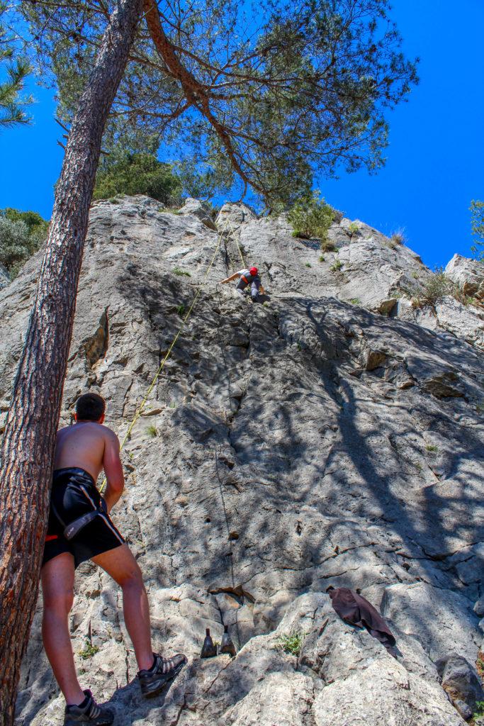 Climbing in La Clape