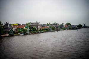 View of residential area of Zaanse Schans from the bridge