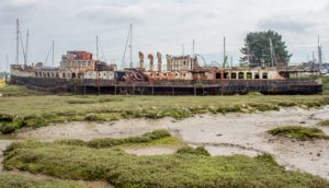 Abandoned Paddle Steamer
