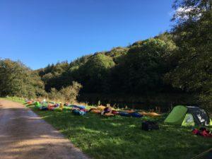 Kayaks in Biblins Campsite