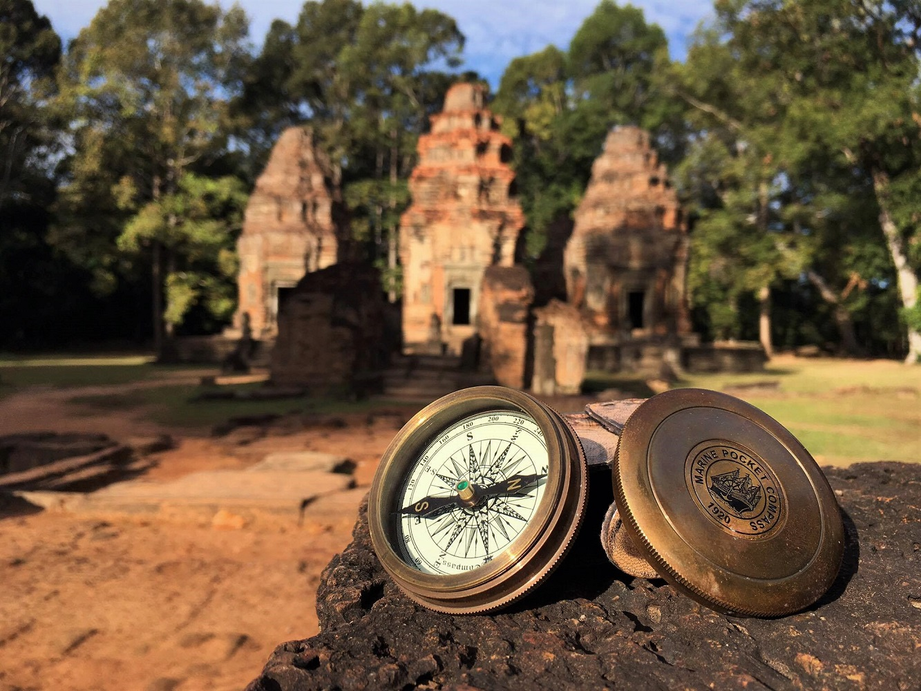 Our compass at Preah Ko