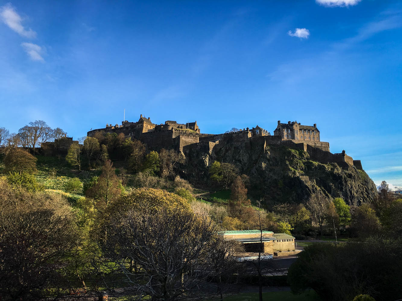Edinburgh Castle from outside