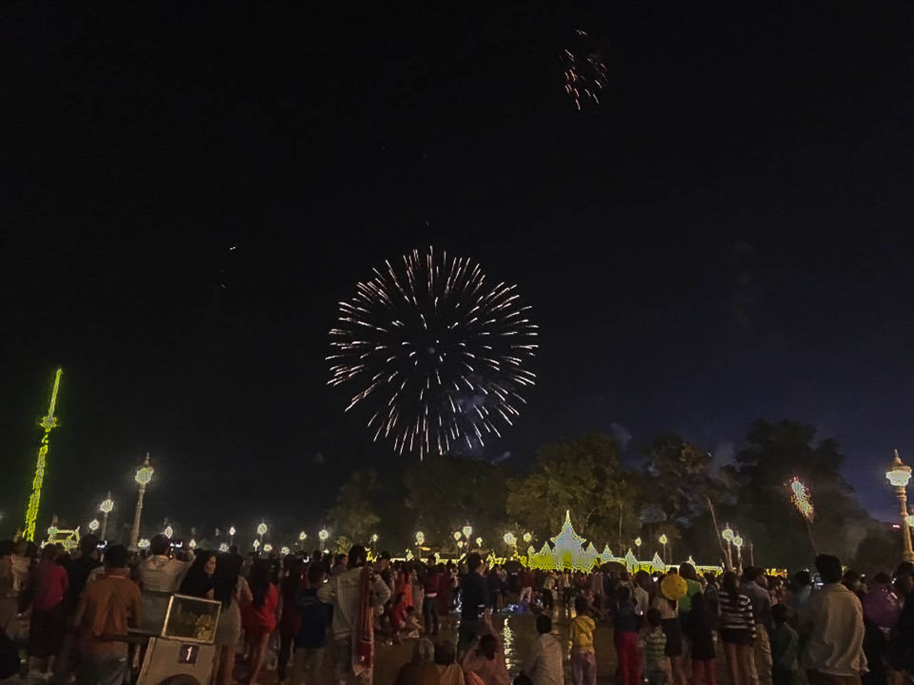 NYE fireworks in Phnom Penh